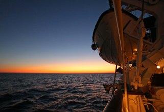 Sonnenuntergang im karibischen Meer. Foto: Oliver Heider