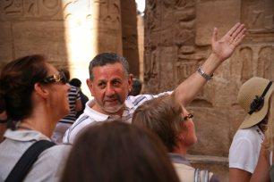 Reiseleiter Said im Tempel von Karnak. Foto: Oliver Heider
