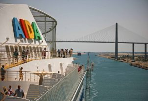 Aida Diva im Suezkanal. Foto: Oliver Heider