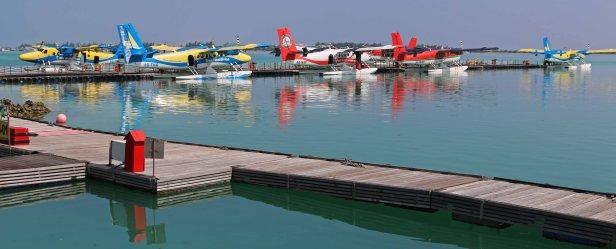 Wasserflugzeuge in Malé. Foto: Oliver Heider