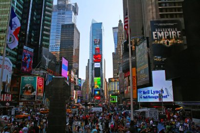 Times Square in New York City. Foto: Oliver Heider