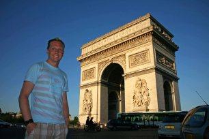 Der Triumpfbogen in Paris.