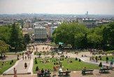 Ausblick vom Montmartre-Hügel auf die Satdt Paris. Foto: Oliver Heider
