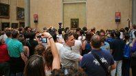 Klein ist das Gemälde der Mona Lisa - aber ein Besuchermagnet. Foto: Oliver Heider