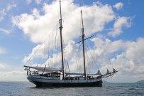 """""""Sea Pearl"""" vor Anker. Foto: Oliver Heider"""
