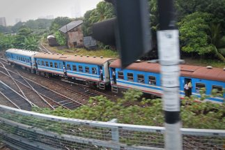 Zug in Colombo. Foto: Oliver Heider