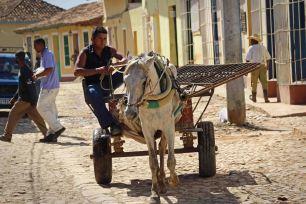 Urtümlich geht es in Trinidad auf Kuba zu. Foto: Oliver Heider