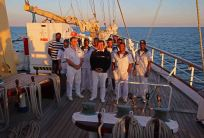 Kapitän Yurij Slastenin und seine Mannschaft. Foto: Oliver Heider