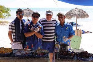 Barbeque am Strand von Cayo Rico. Foto: Oliver Heider