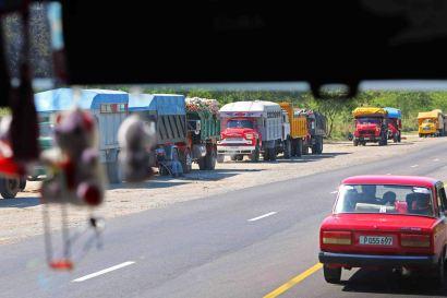 Oldtimer-Trucks so weit das Auge reicht. Foto: Oliver Heider