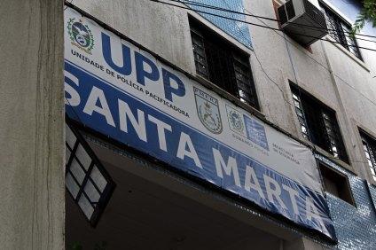 Favela Santa Marta in Rio de Janeiro Brasilien
