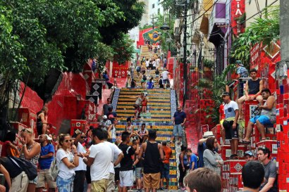 """Fliesentreppe """"Escadaria Selarón"""" in Rio de Janeiro Brasilien"""