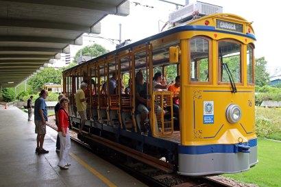 Straßenbahn Santa Teresa in Rio de Janeiro Brasilien