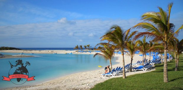 Great Stirrup Cay Privatinsel Norwegian Cruise Line Bahamas Strand Lagune