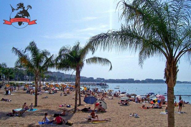 Cannes Côte d'Azur Frankreich Strand Croisette