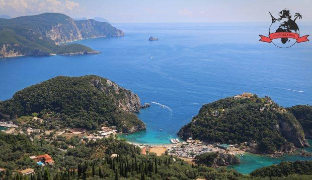 Paleokastritsa Insel Korfu Griechenland Strand
