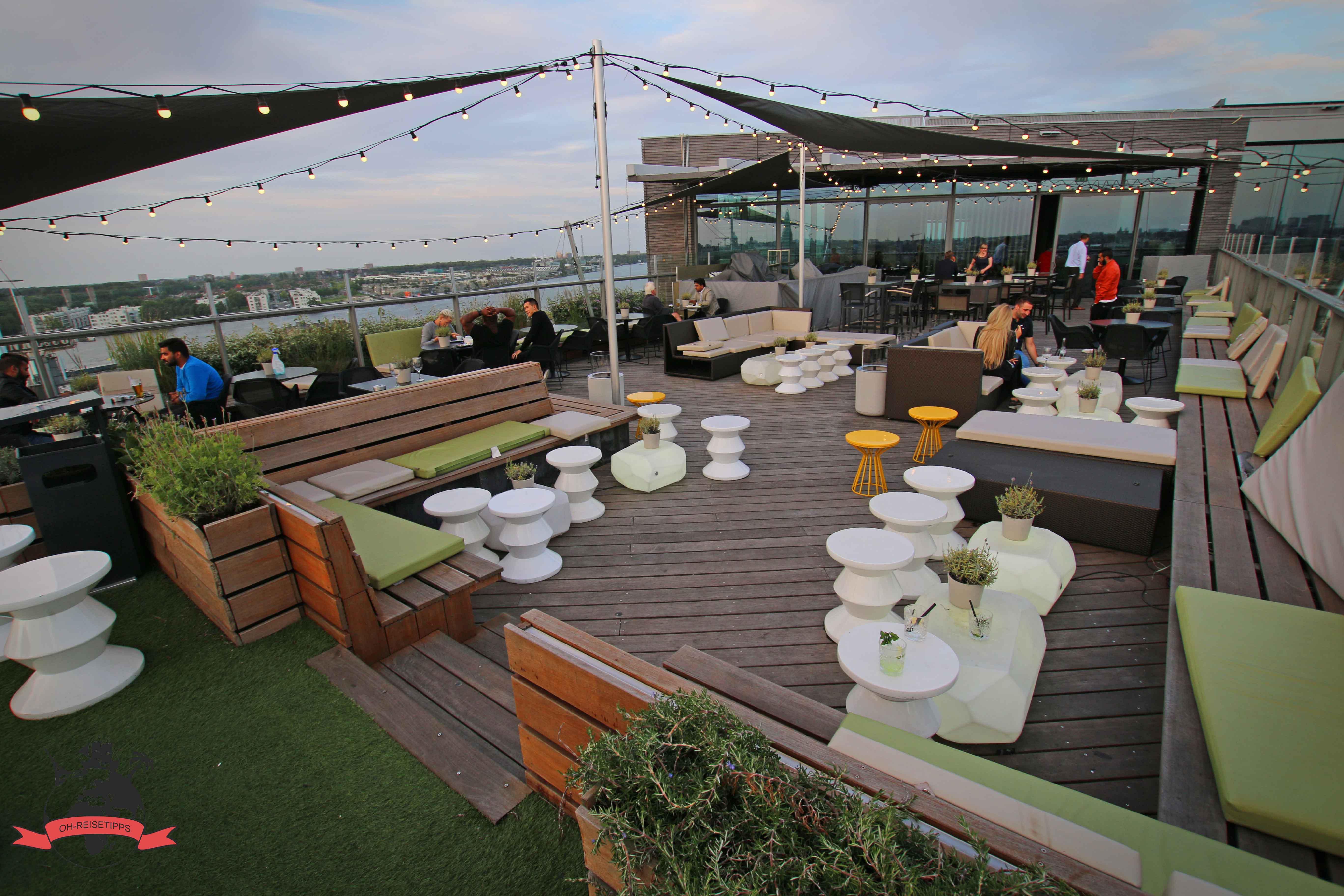 niederlande amsterdam hiltonhotel dachterrasse oh reisetipps. Black Bedroom Furniture Sets. Home Design Ideas