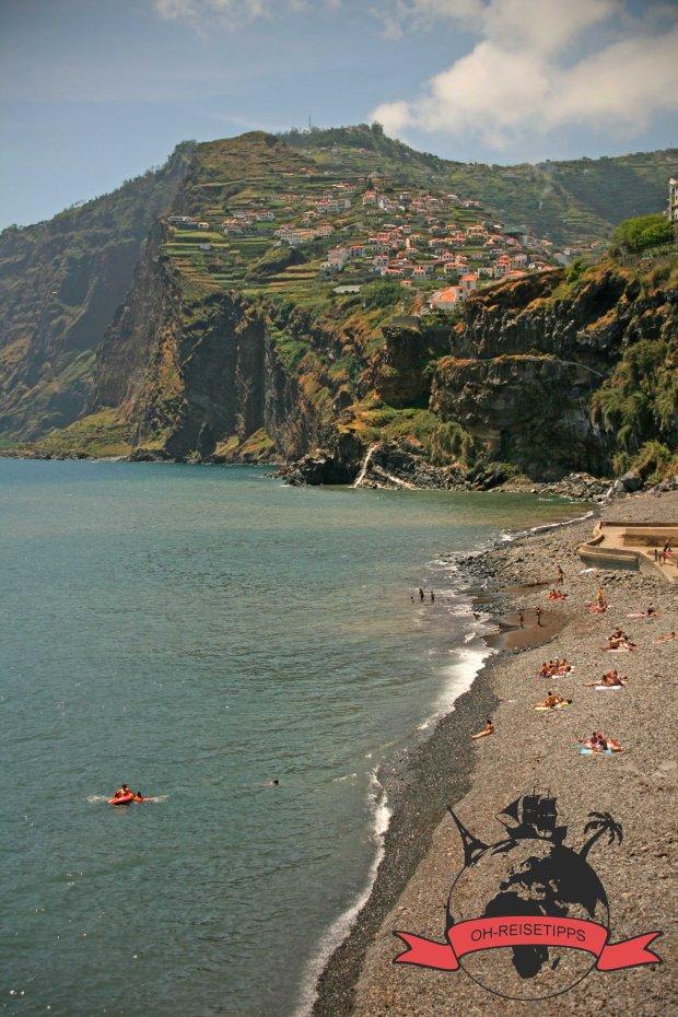 Strand Camara de Lobos Madeira Portugal