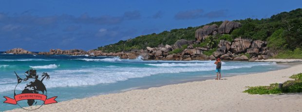 Grand Anse Seychellen Insel La Digue Strand