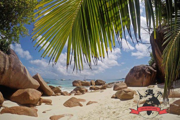 Anse Lazio Seychellen Insel Praslin Strand