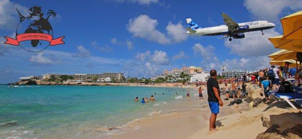 Maho Beach Karibik Insel St. Maarten Strand