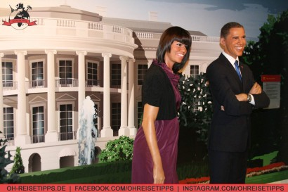Die Obamas im Madame Tussauds in Washington. Foto: Oliver Heider