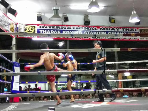 Muay-Thai-Boxen ist nicht jedermanns Sache. Birgit hat es aber gefallen.