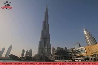 Der Burj Khalifa in Dubai - mit 828 Metern das höchste Gebäude der Welt. Foto: Oliver Heider