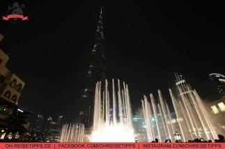 Wasserspiele am Fuße des Burj Khalifa in Dubai. Foto: Oliver Heider