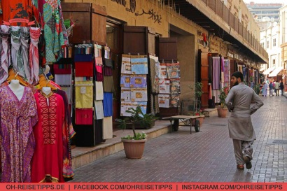 Der Textil-Souk in Dubai. Foto: Oliver Heider