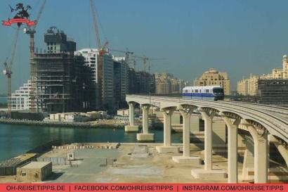 """Mit der Mono Rail auf """"The Palm Jumeirah"""" in Dubai. Foto: Oliver Heider"""