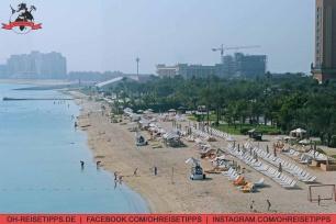 """Der Strand vom Atlantis-Resort auf """"The Palm Jumeirah"""" in Dubai. Foto: Oliver Heider"""
