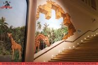 "Tolle Malereien an den Häuserfassaden auf ""The Walk"" direkt an der Jumeirah Beach Residence in Dubai. Foto: Oliver Heider"