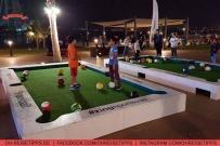 """Snookball, eine Mischung aus Fußball und billard, kann man im Bereich """"The Beach"""" in Dubai spielen. Foto: Oliver Heider"""