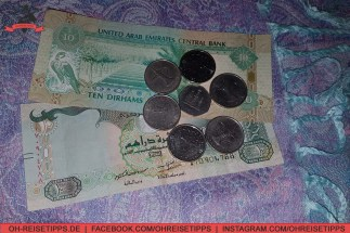 Die Währung in den Vereinigten Arabischen Emiraten heißt Dirham (AED). Foto: Oliver Heider