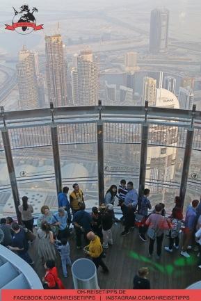 Legere Kleidung auf dem Burj Khalifa in Dubai. Foto: Oliver Heider