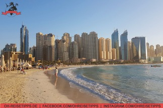 Strandbekleidung am Jumeirah Beach in Dubai. Foto: Oliver Heider