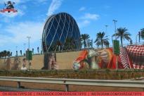 Wandmalerei an einer Straße in Abu Dhabi. Foto: Oliver Heider