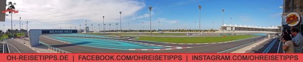 """Die Formel-1-Strecke """"Yas Marina Circuit"""" in Abu Dhabi. Foto: Oliver Heider"""