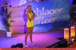 """Die TV-Sendung """"Schlager & Meer"""" mit Beatrice Egli wurde an Bord der Mein Schiff 3 aufgezeichnet. Mit dabei: Linda Fäh. Foto: Oliver Heider"""