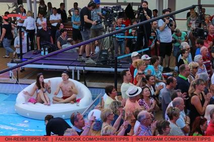 """Die TV-Sendung """"Schlager & Meer"""" mit Beatrice Egli wurde auf der Mein Schiff 3 von Tui Cruises aufgezeichnet. Foto: Oliver Heider"""