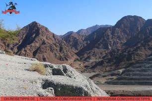 Ein Wadi im Gebirge im Emirat Fujairah. Foto: Oliver Heider