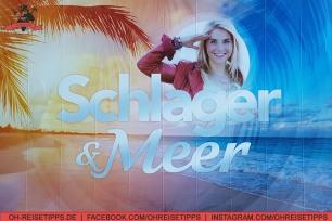 Plakat für die Schlager&Meer-Kreuzfahrt mit der Mein Schiff 3 von Tui Cruises.