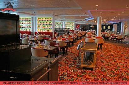 """Das Restaurant """"Atlantik mediterran"""" auf Mein Schiff 3 von Tui Cruises. Foto: Oliver Heider"""
