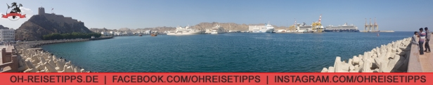 Der Hafen von Muscat und die Corniche. Foto: Oliver Heider